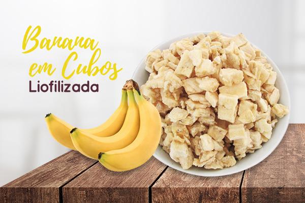 Banana em Cubos